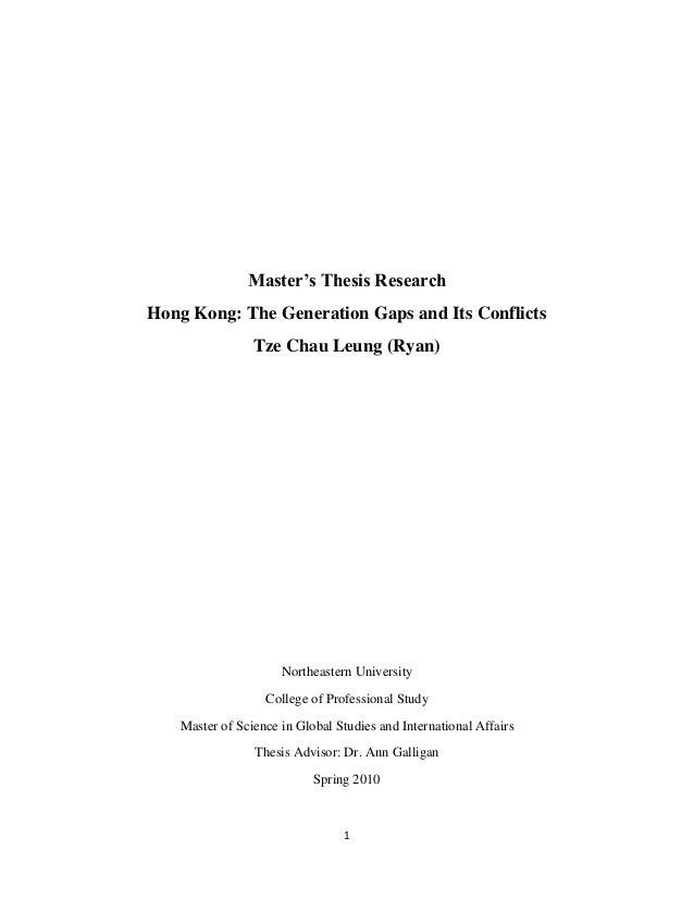 Masters thesis research