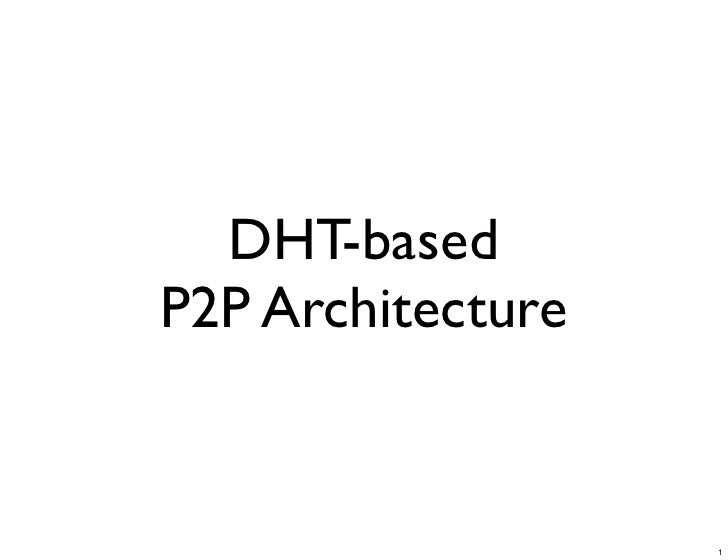 DHT-based P2P Architecture                      1
