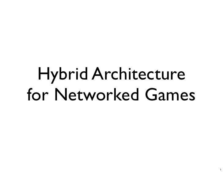 Hybrid Architecture for Networked Games                           1
