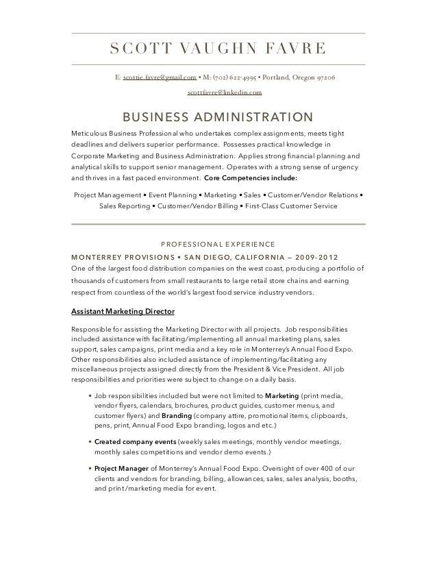 business management resume saindeorg - Professional Business Resume Template