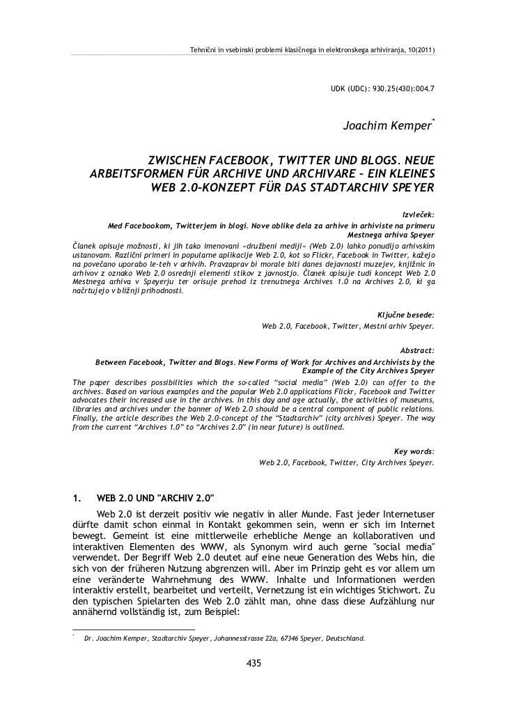 Tehnični in vsebinski problemi klasičnega in elektronskega arhiviranja, 10(2011)                                          ...