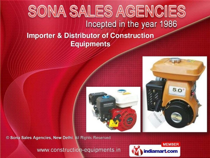 Importer & Distributor of Construction             Equipments