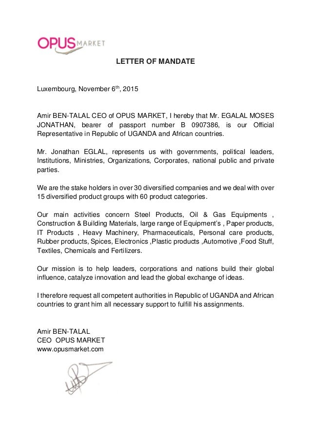 Mandate Letter Sir Jonathan M E