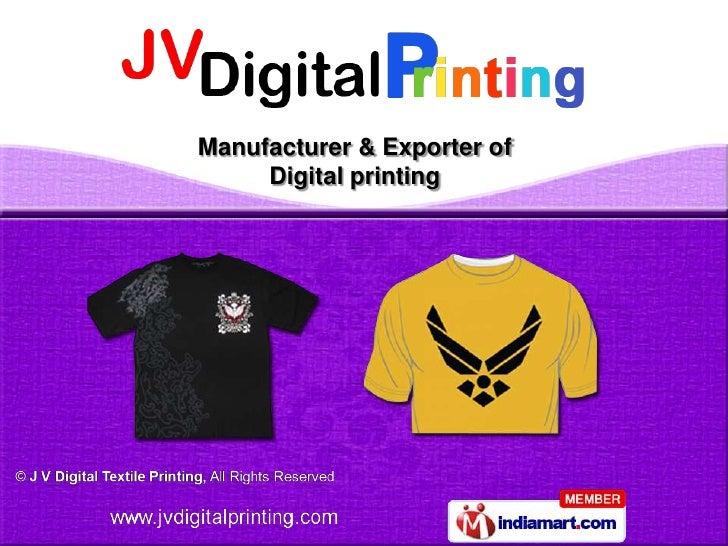 J V Digital Textile Printing Delhi India