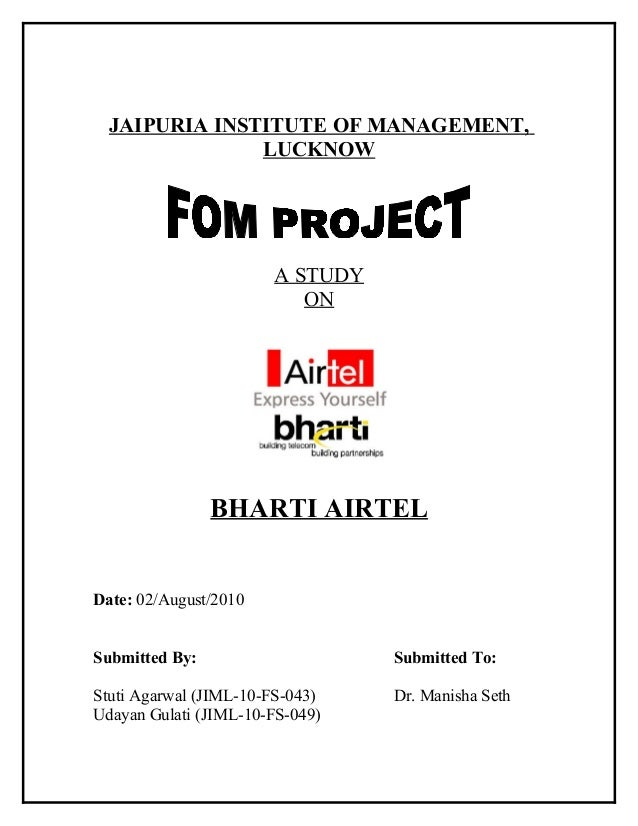 JAIPURIA INSTITUTE OF MANAGEMENT,               LUCKNOW                       A STUDY                          ON         ...