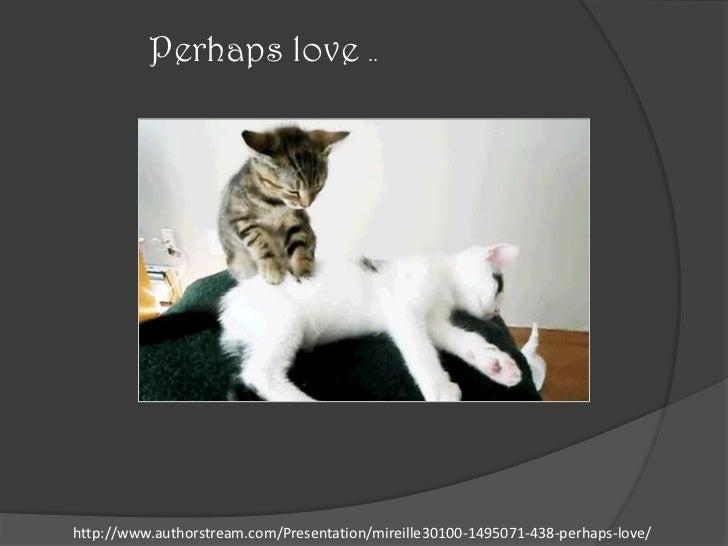 Perhaps love ..http://www.authorstream.com/Presentation/mireille30100-1495071-438-perhaps-love/