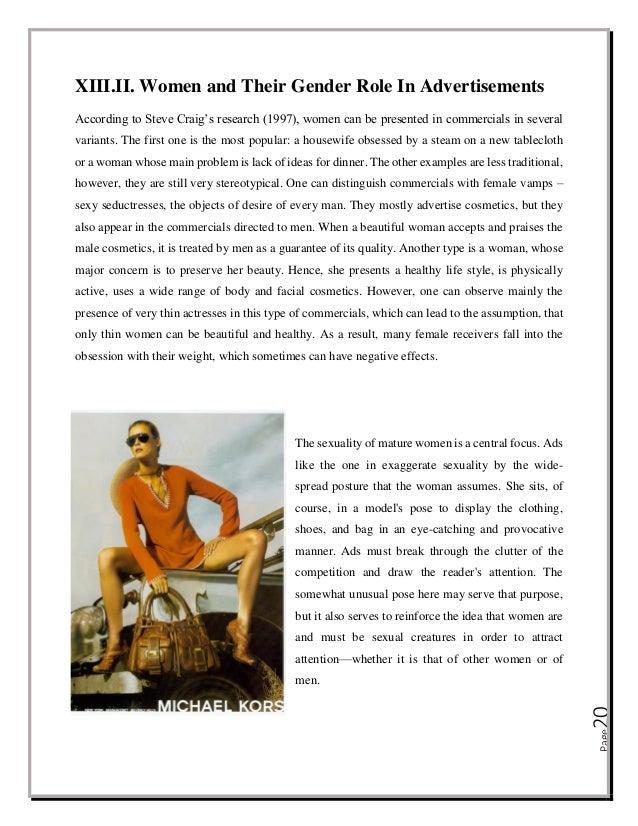 Gender roles in the media essay