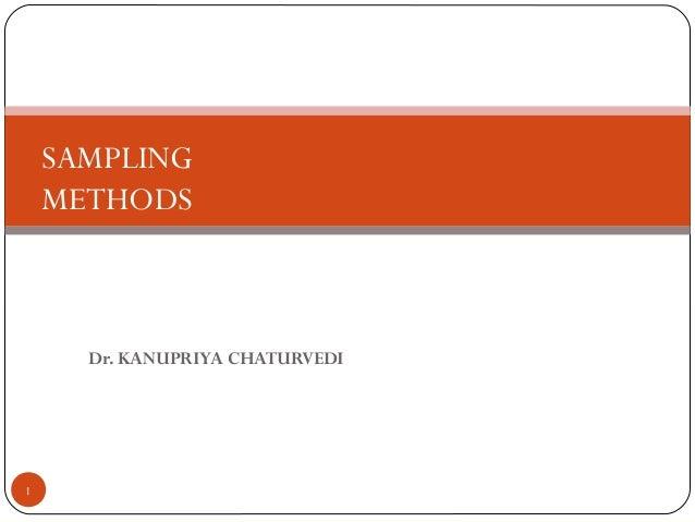 sampling methods...