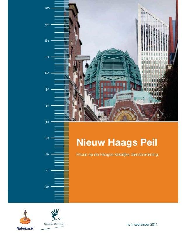 1009080706050403020      Nieuw Haags Peil10    Focus op de Haagse zakelijke dienstverlening 0-10                          ...