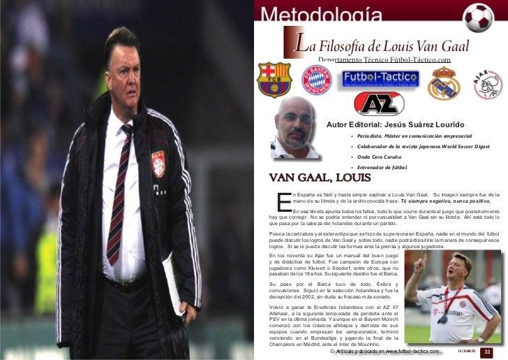 La Filosofía de Louis Van Gaal                     Departamento Técnico Fútbol-Táctico.com                         Autor E...