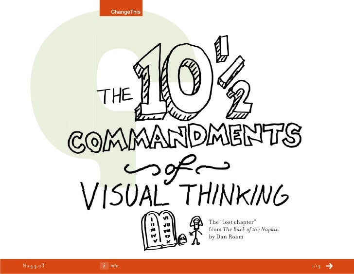 """The 10 1/2 Commandments of Visual Thinking: The """"Lost Chapter"""" from The Back of the Napkin"""