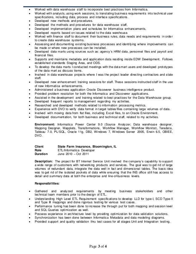 [informatica data modeling resume informatica] sample
