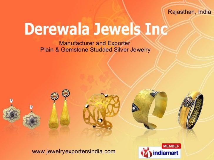 Silver Jewelry By Derewala Jewels Inc, Jaipur