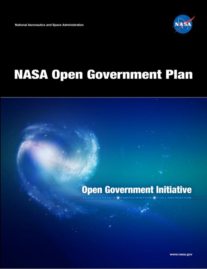 NASA Open Government Plan                                                                                   April 7, 2010T...
