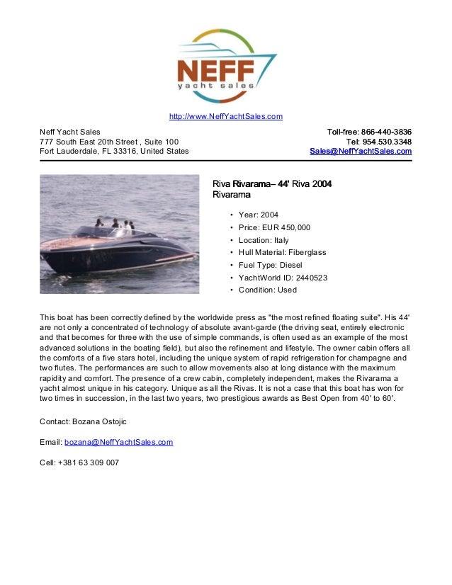 44' 2004 riva rivarama for sale   neff yacht sales