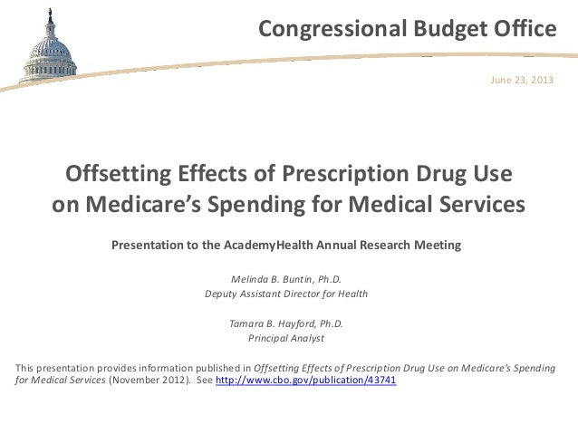 Offsetting Effects of Prescription Drug Use on Medicare's Spending for Medical Services