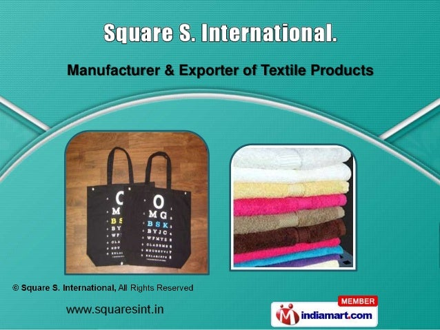 Manufacturer & Exporter of Textile Products