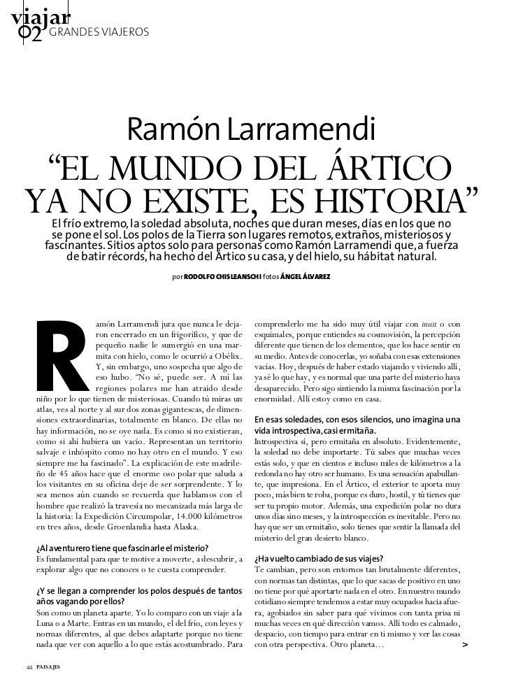 ENTREVISTA CON RAMÓN LARRAMENDI - TIERRAS POLARES