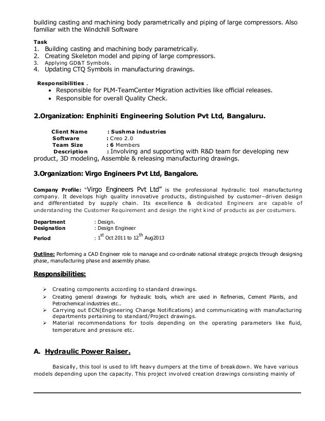 teamcenter project manager resume 28 images vinodh
