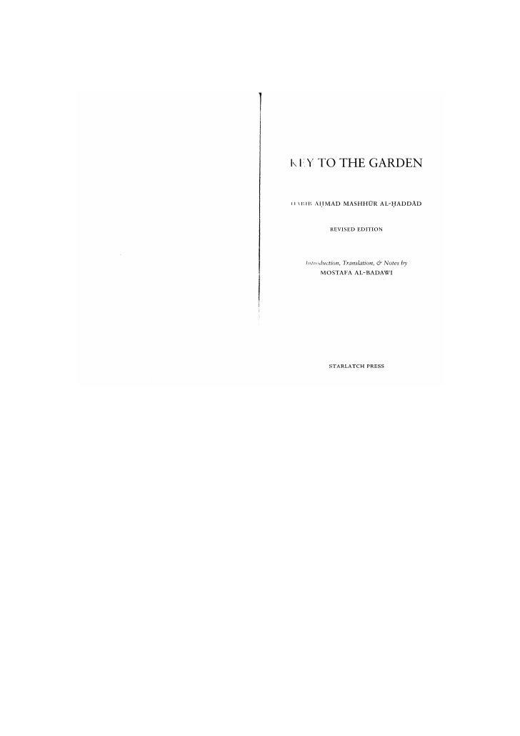 Key to the Garden -HabibAhmad Mashhur Al-Haddad