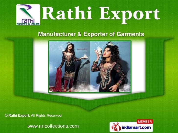 Manufacturer & Exporter of Garments