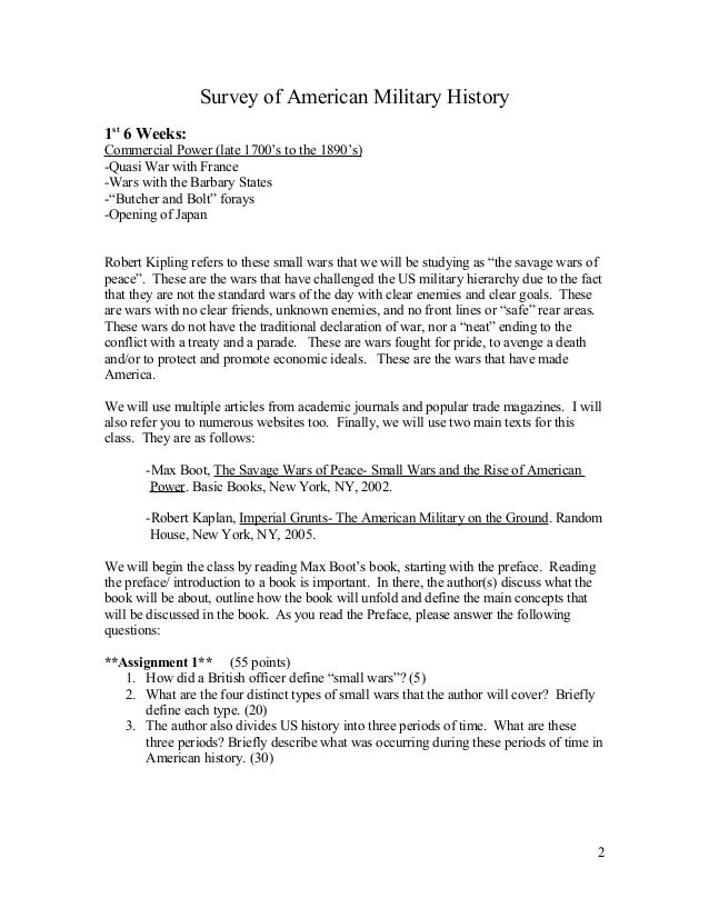 Military history essay