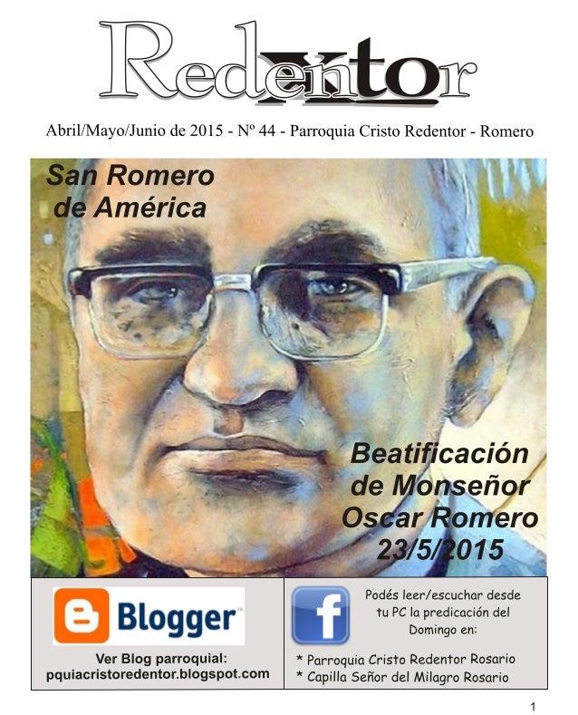 """Redentor n° 44 """"San Romero de América"""""""