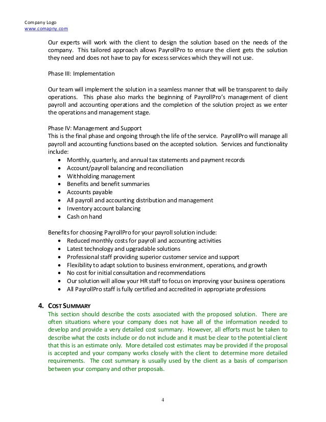 Proposal Template » Consulting Services Proposal Template - Cover ...