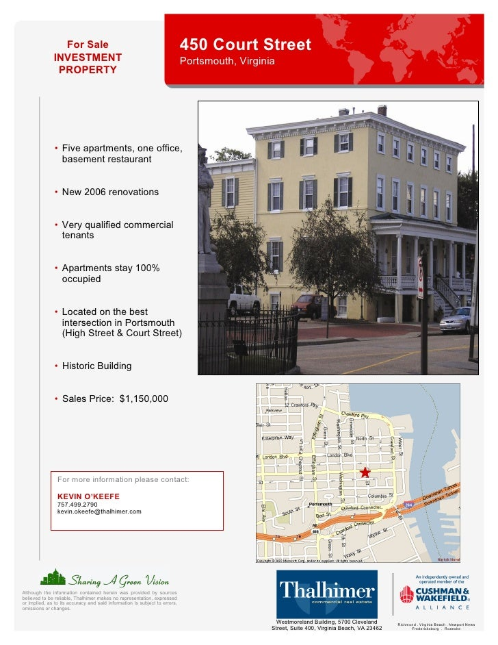 For Sale                                                    450 Court Street               INVESTMENT                     ...