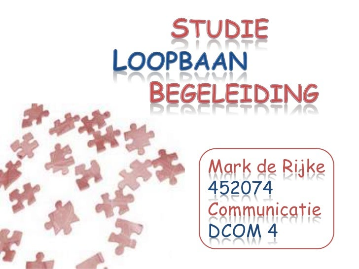 Mark de Rijke452074CommunicatieDCOM 4