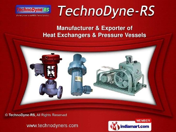 Manufacturer & Exporter ofHeat Exchangers & Pressure Vessels