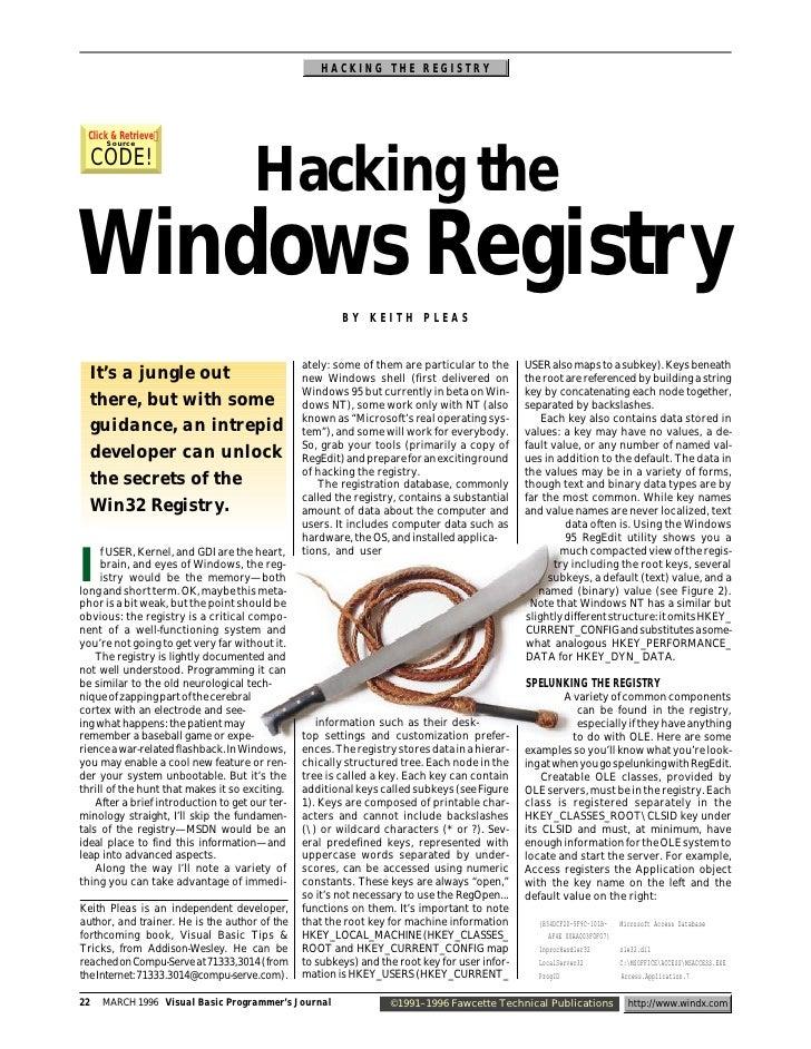 www.indonezia.net Hacking Windows Registry