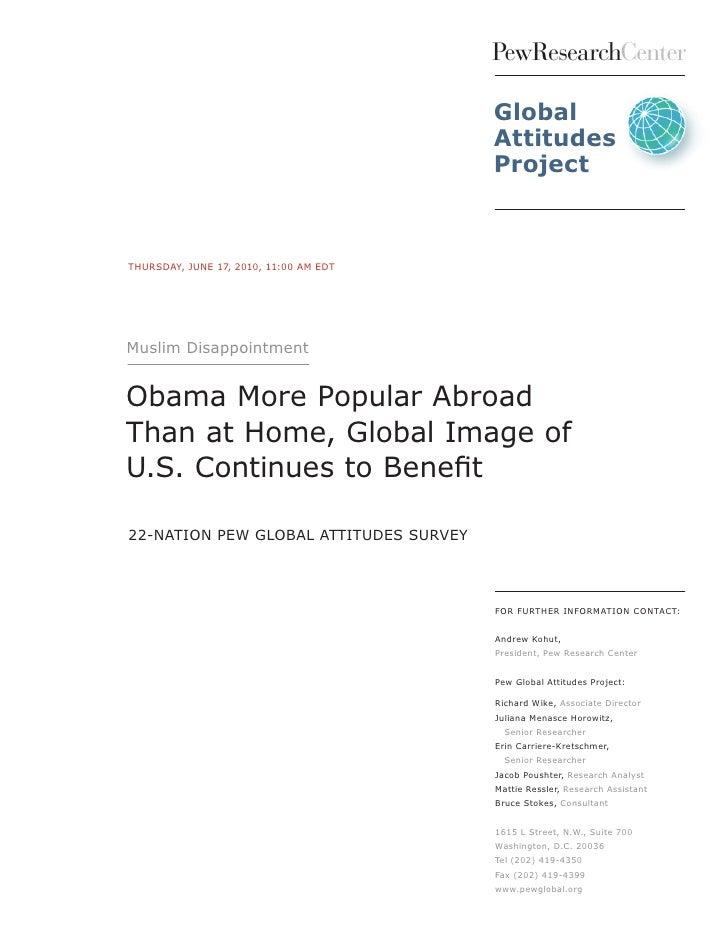 PEW Global Attitudes 2010