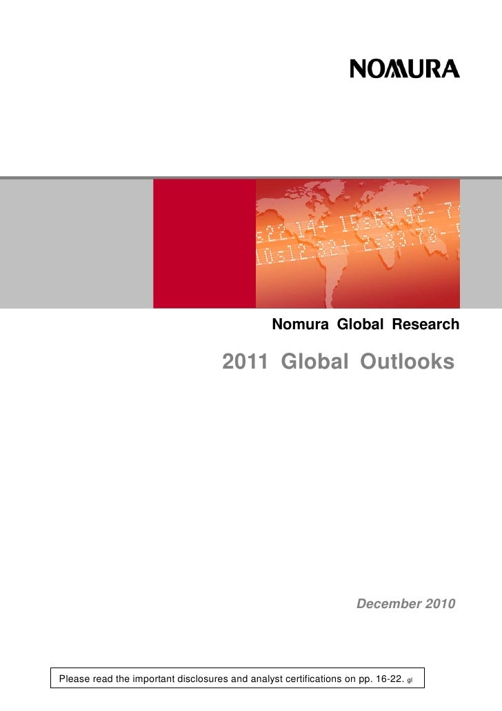 Nomura Global Outlook 2011