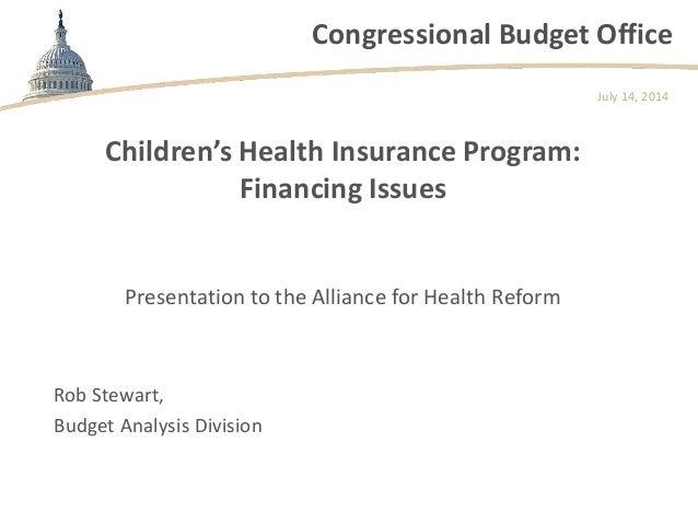 Children's Health Insurance Program: Financing Issues