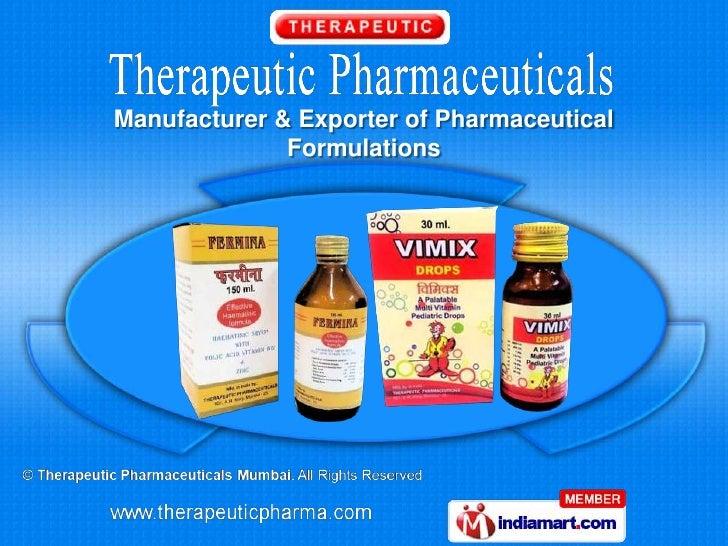 Therapeutic Pharmaceuticals Maharashtra India