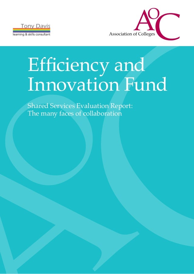 Efficiency andInnovation FundShared Services Evaluation Report:The many faces of collaboration