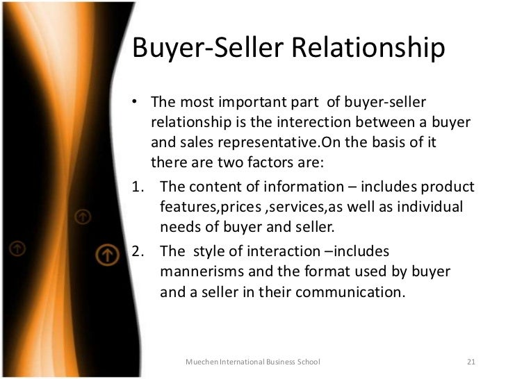 buyer and seller relationship in the retail industry essay The influence of power driven buyer/seller relationships on supply how the buyer–seller relationship affects satisfaction in the automobile industry.