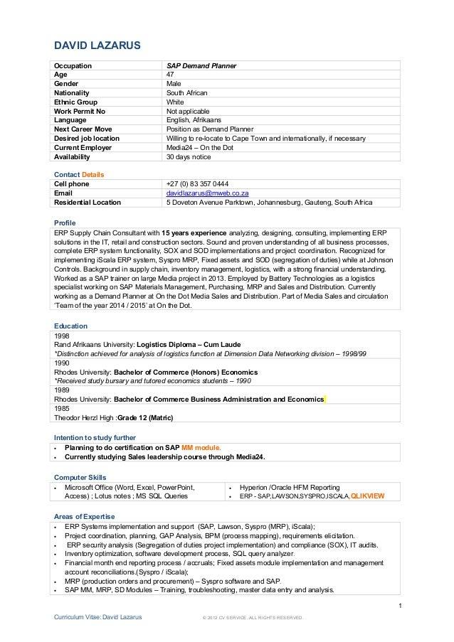 demand planner resume 59 images cover letter