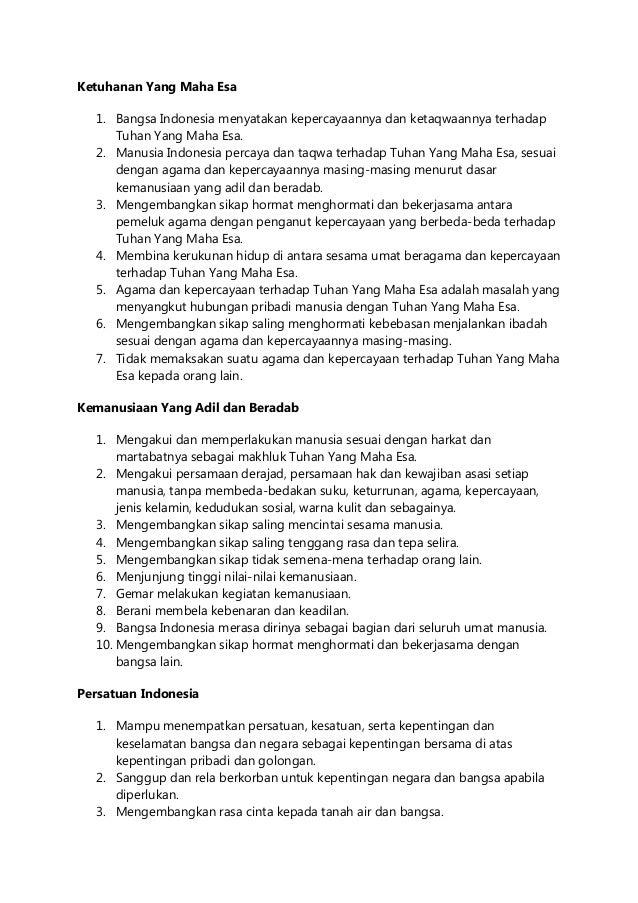 BUTIR BUTIR PANCASILA PDF