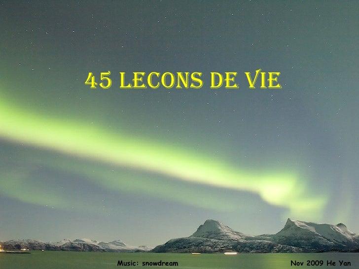 45 lecons de vie