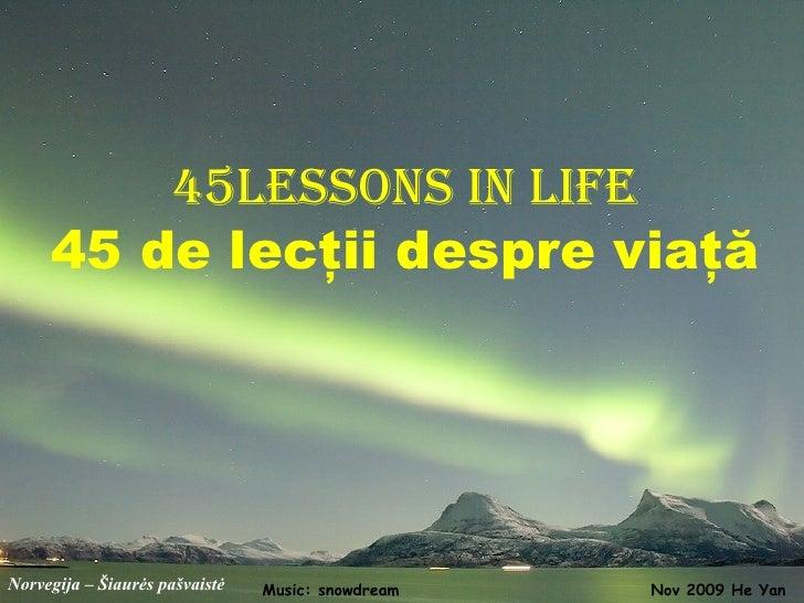 45 Lectii Despre Viata