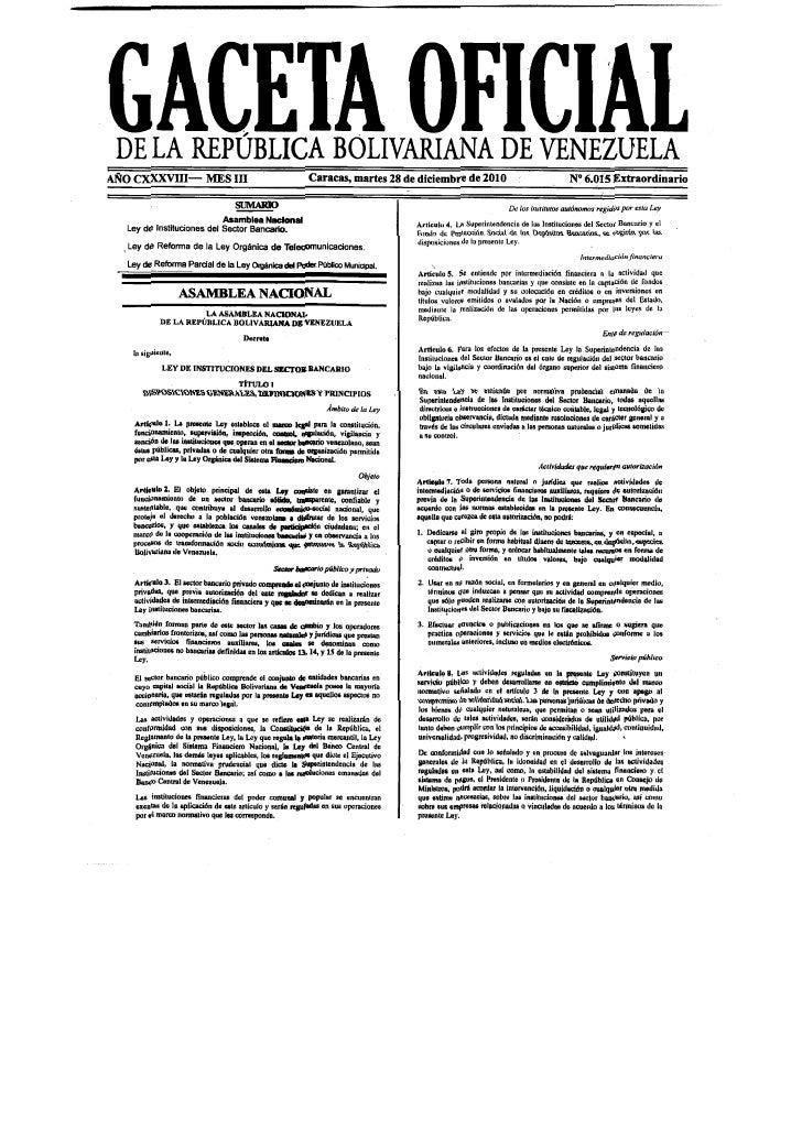 46268206 gaceta-extraordinaria-con-las-leyes-de-bancos-telecomunicaciones-y-poder-publico-municipal