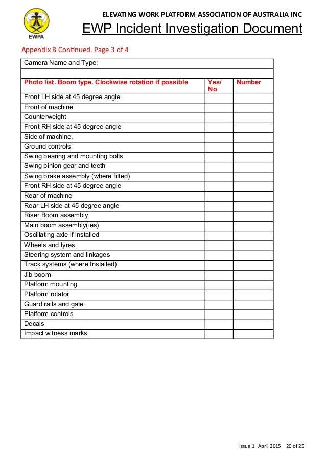 Ewp Incident Investigation Document Australia Issue 1