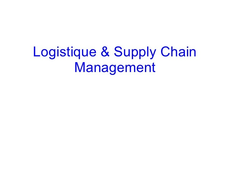 Logistique & Supply Chain Management