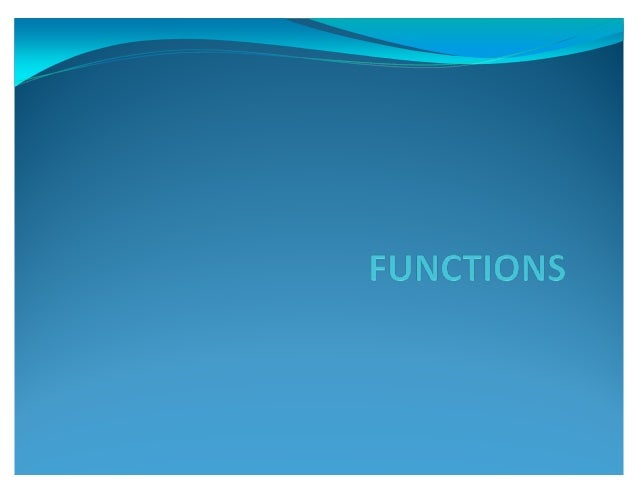 """FUNCTION?? y All languages have a construct to separate and package blocks of code. C uses the """"function"""" to package block..."""