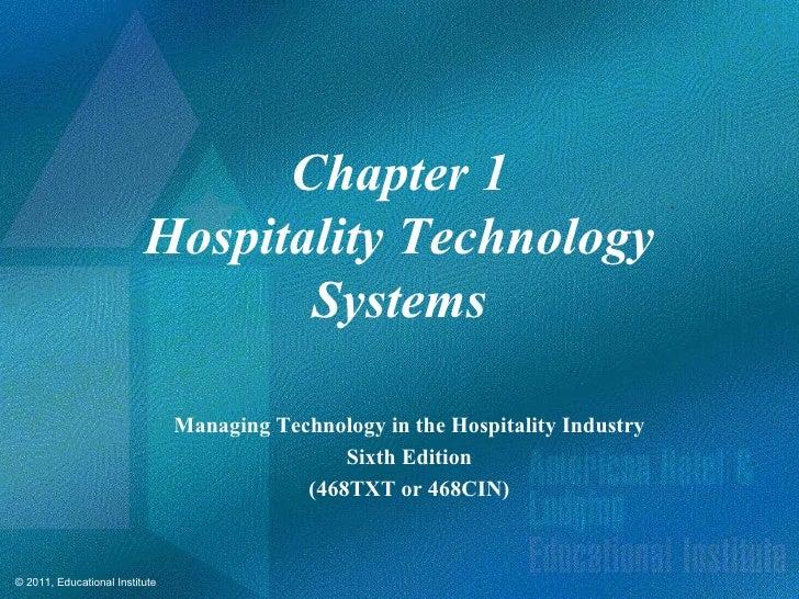 Chapter 1                          Hospitality Technology                                 Systems                         ...
