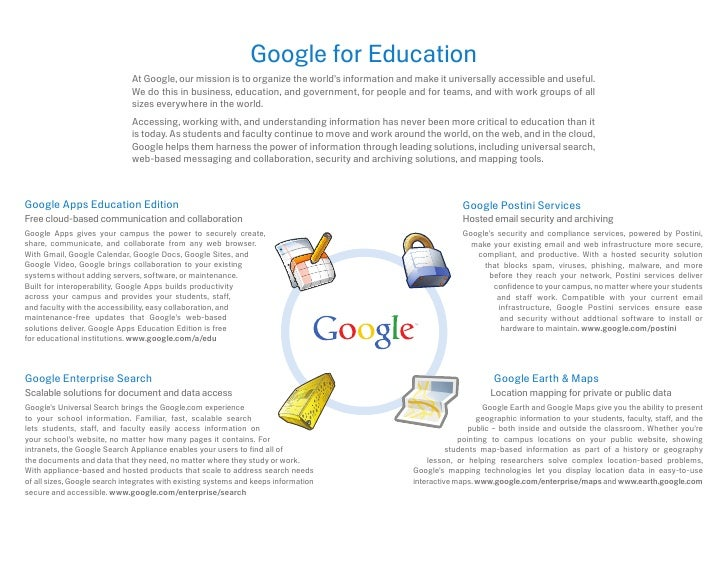 Google for Education                               At Google, our mission is to organize the world's information and make ...