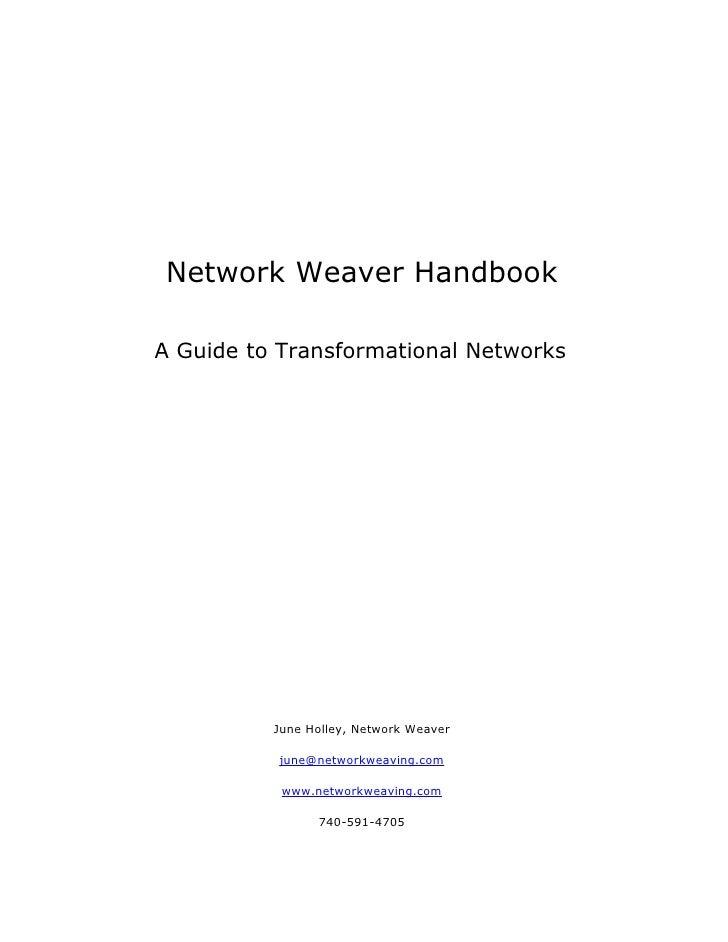 Network Weaver Handbook Workgroup