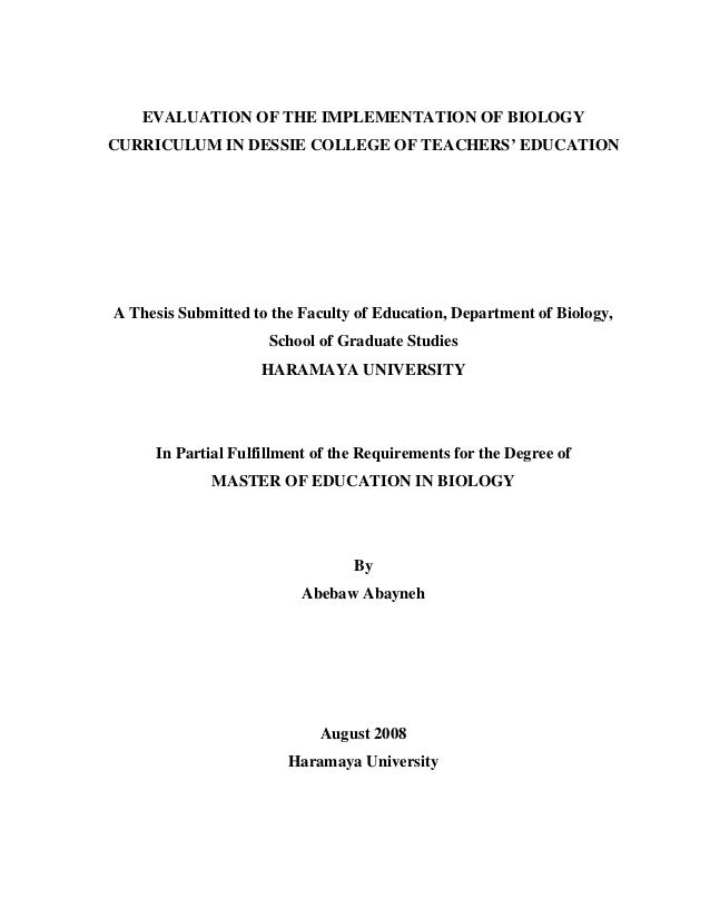 Curriculum and instruction dissertation